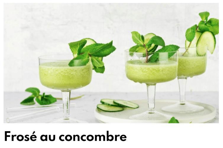 Frosé au concombre