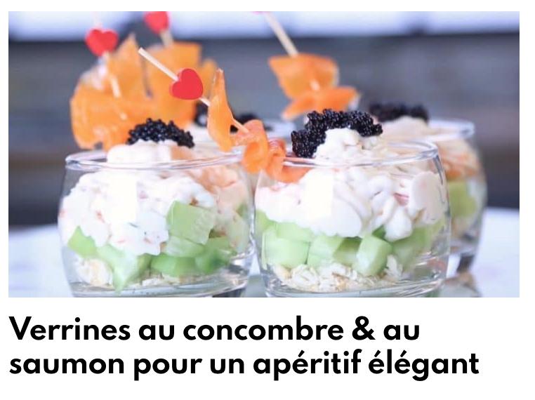 Verrines concombre saumon
