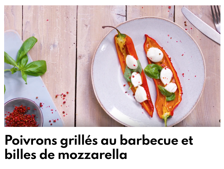 Poivron grillés au barbecue