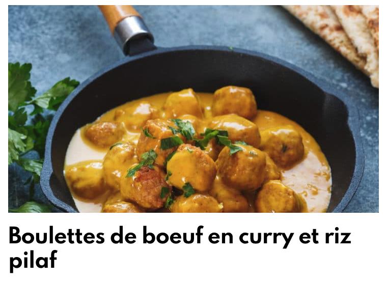 Boulette de boeuf au curry