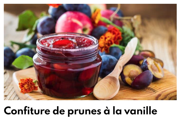 Confiture de prunes à la vanille
