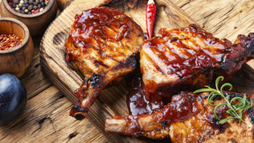 Côtes de porc marinée