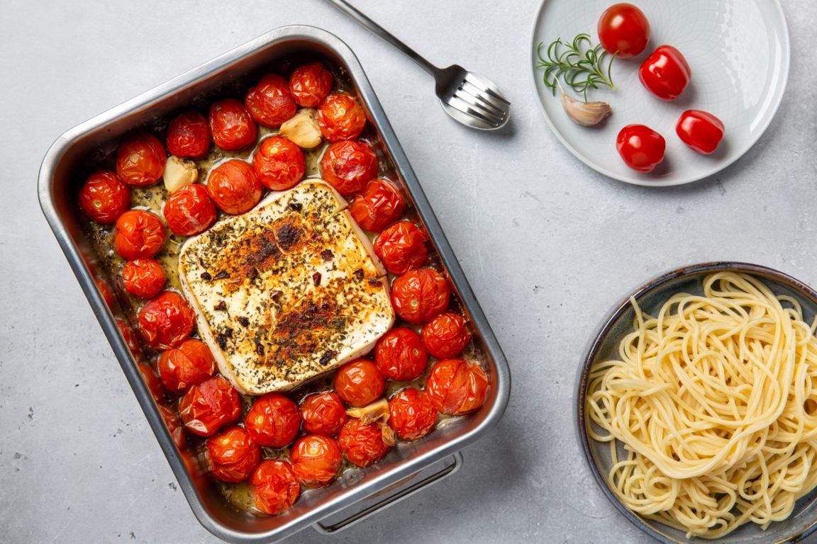 Tomates cerises rôties et feta