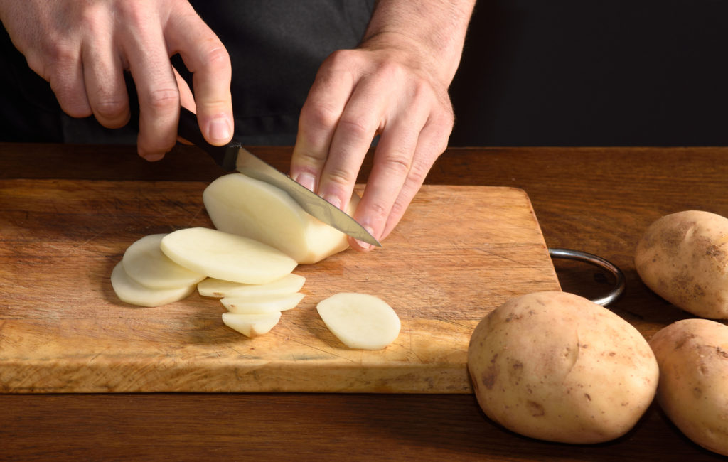Pommes de terre tranchées