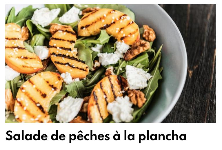 Salade de pêche à la plancha