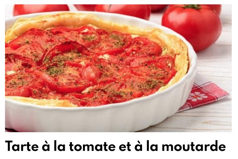 Tarte tomate moutarde