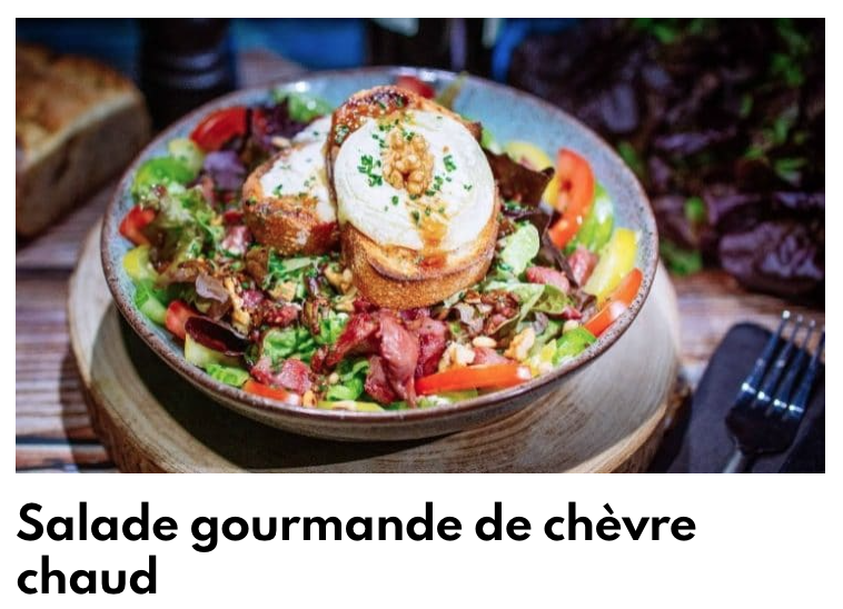 Salade gourmande au chèvre chaud