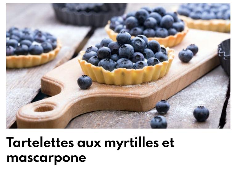 Tartelettes myrtilles