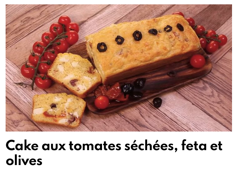 Cake aux tomates séchées