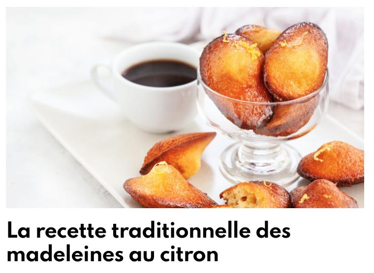 Recette madeleine citron