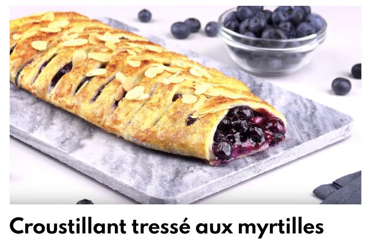 Tresse aux myrtilles