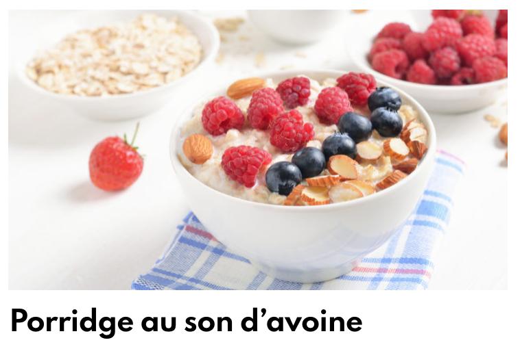 Porridge au son d'avoine