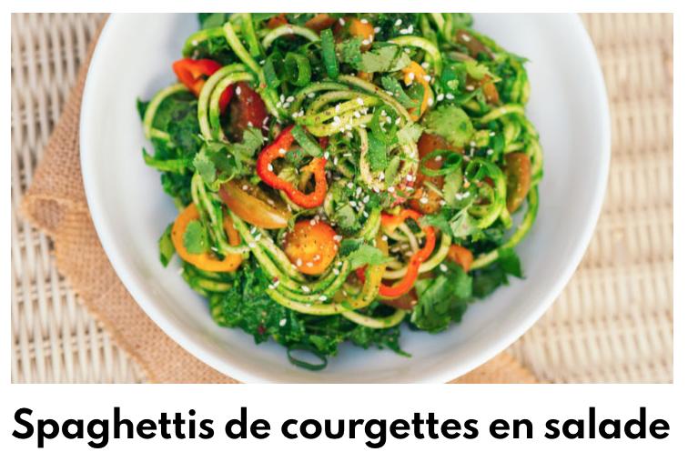 Salade spaghetti courgettes