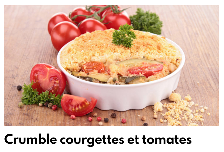 Crumble courgette tomate