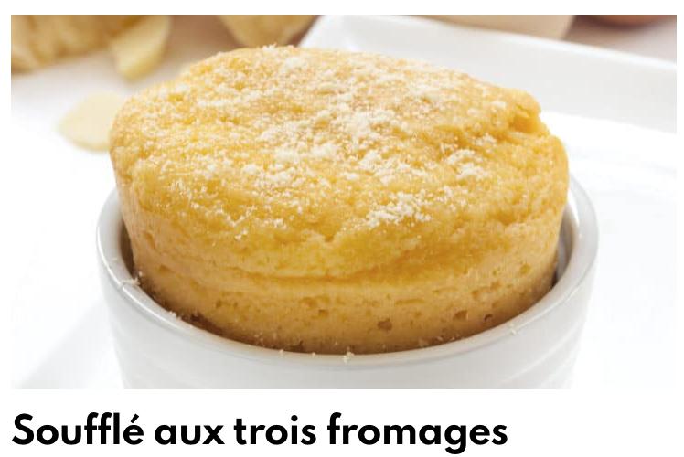 Soufflé aux trois fromages