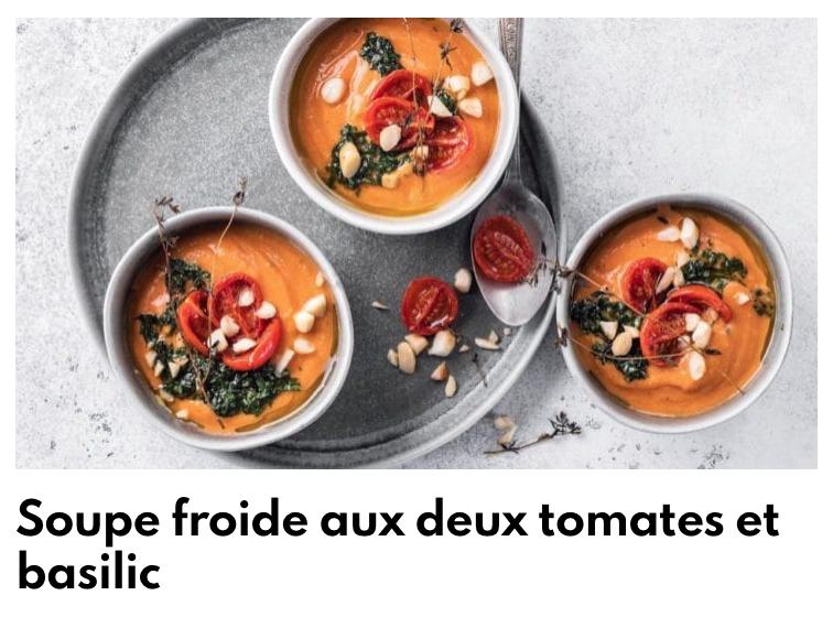Soupe froide aux deux tomates