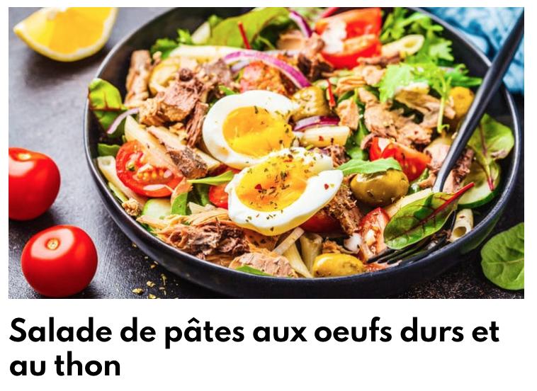 Salade de pâte thon