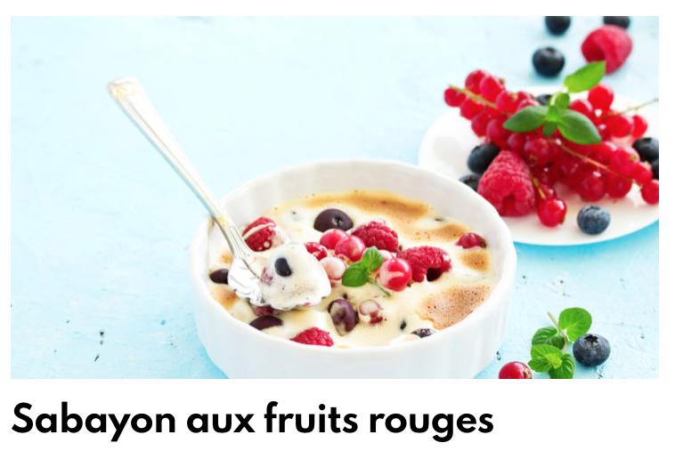Sabayon fruits rouges