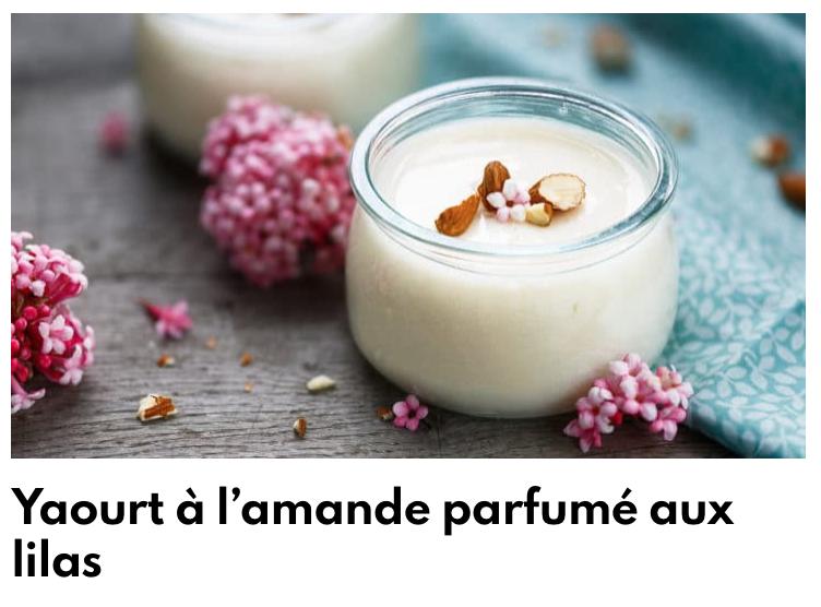 Yaourt parfumé aux lilas