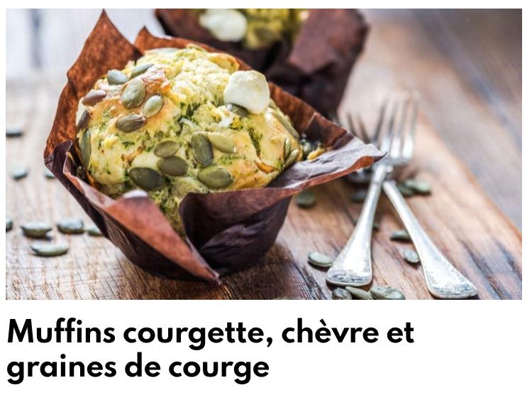 Muffins courgette chèvre