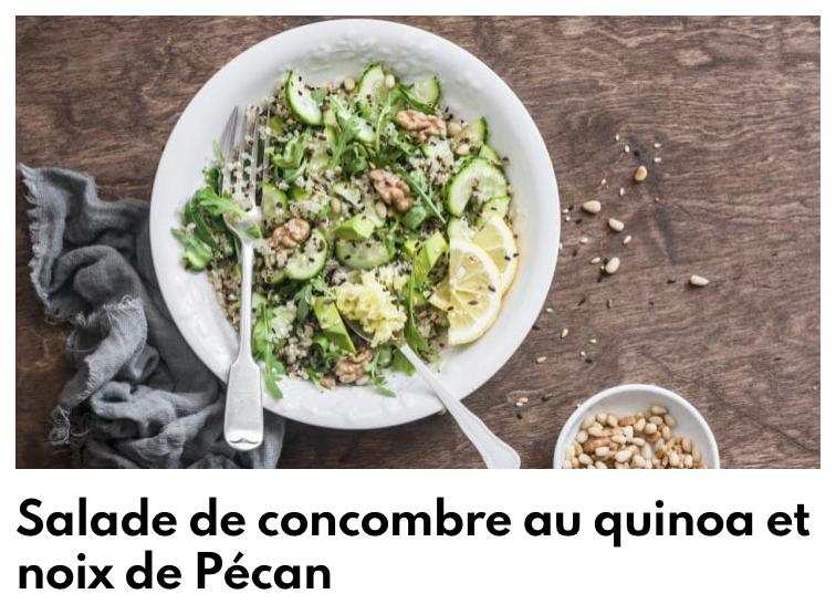 Salade de concombre au quinoa