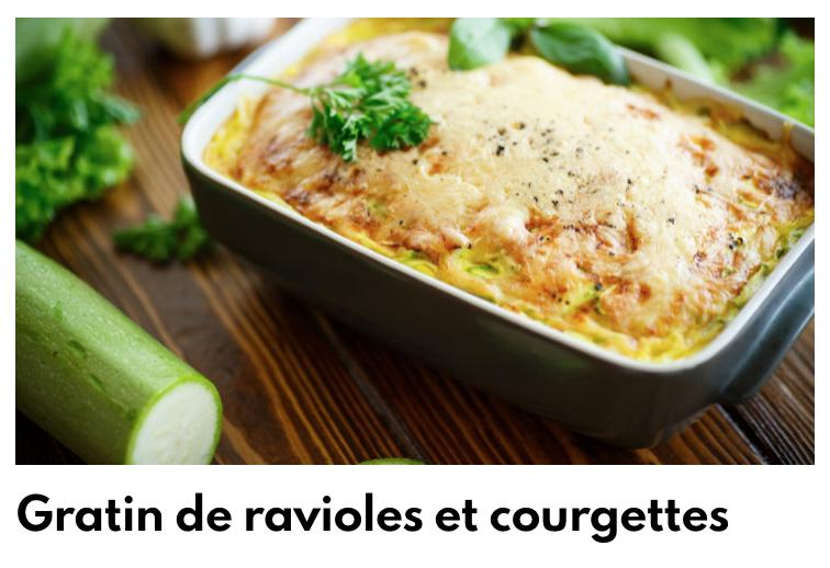 Gratin courgettes ravioles