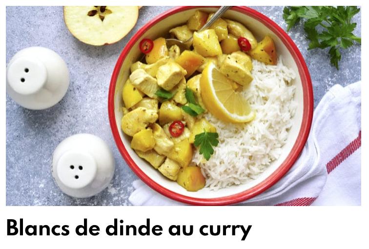 Curry de dinde