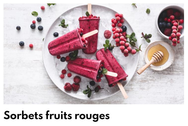 Sorbets fruits rouges