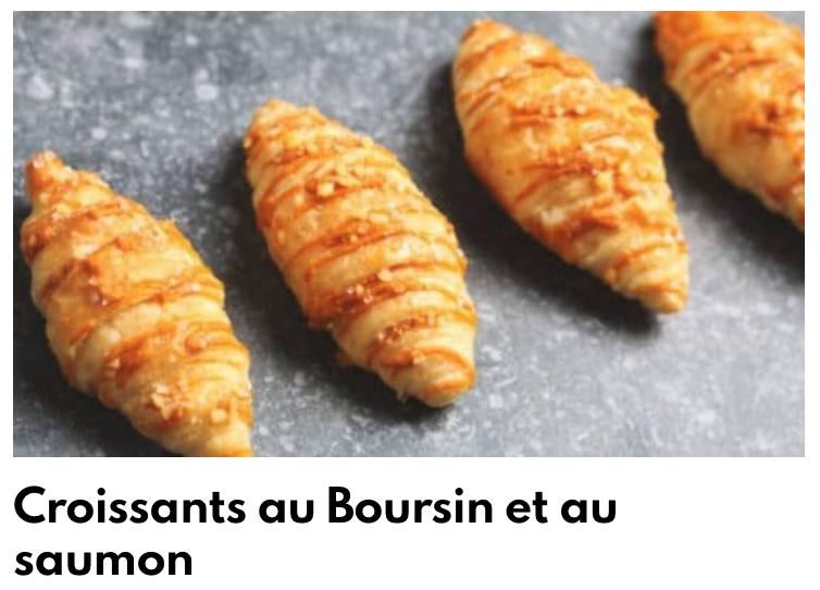 Croissant boursin saumon