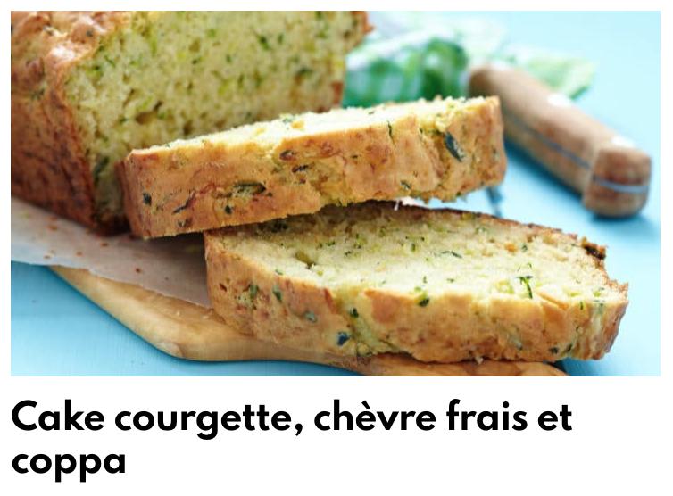 Cake courgette chèvre