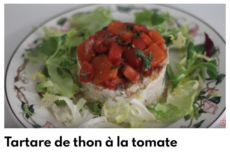 Tartare thon tomate