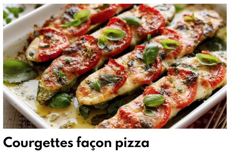 Courgettes façon pizza