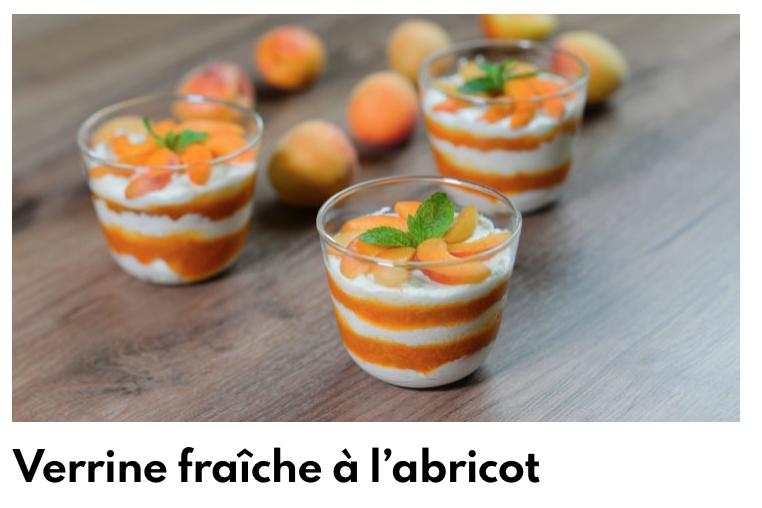 Verrines abricots