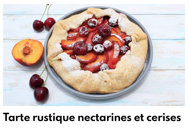 tarte rustique nectarine cerises