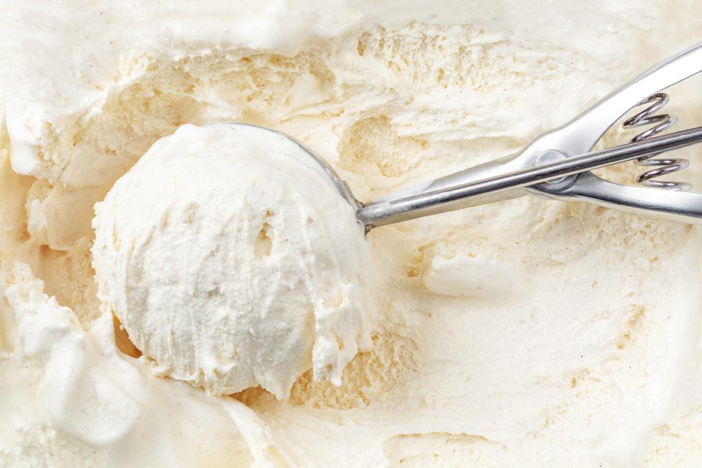 Boule de glace à la vanille