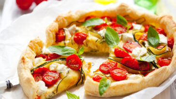 Quiche courgettes et tomates