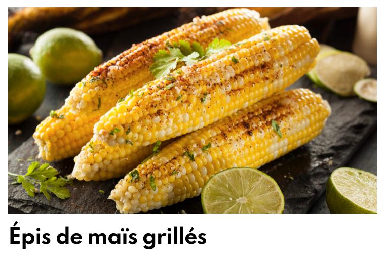 Epis de maïs grillés