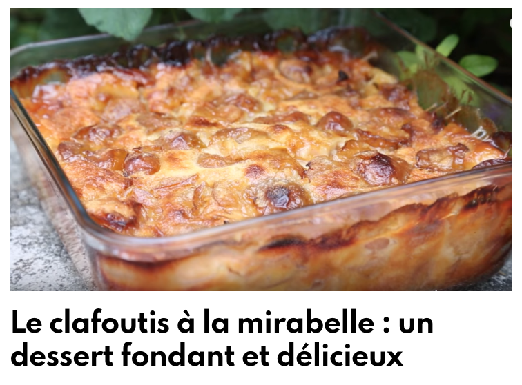 Clafoutis mirabelle