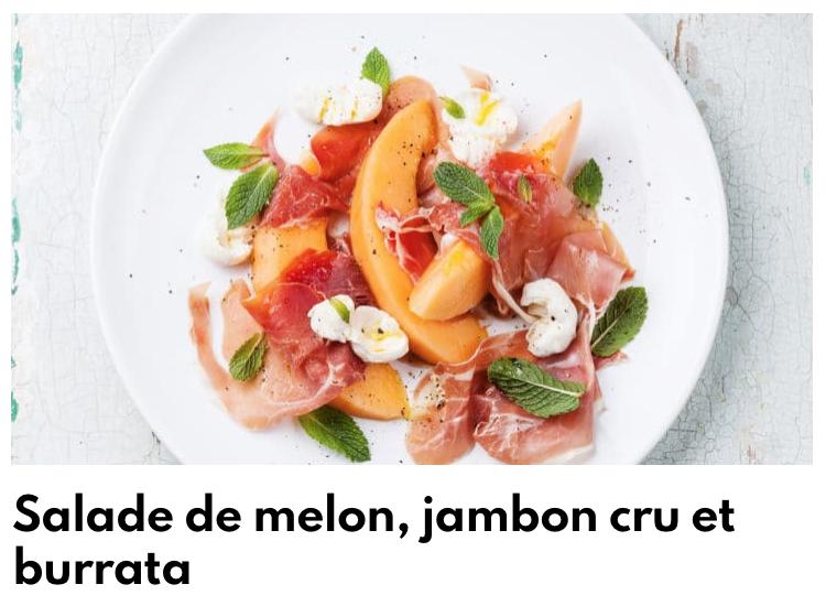 Salade melon jambon cru