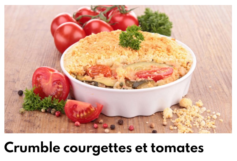 Crumble courgettes tomate