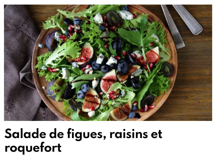 Salade figue raisin