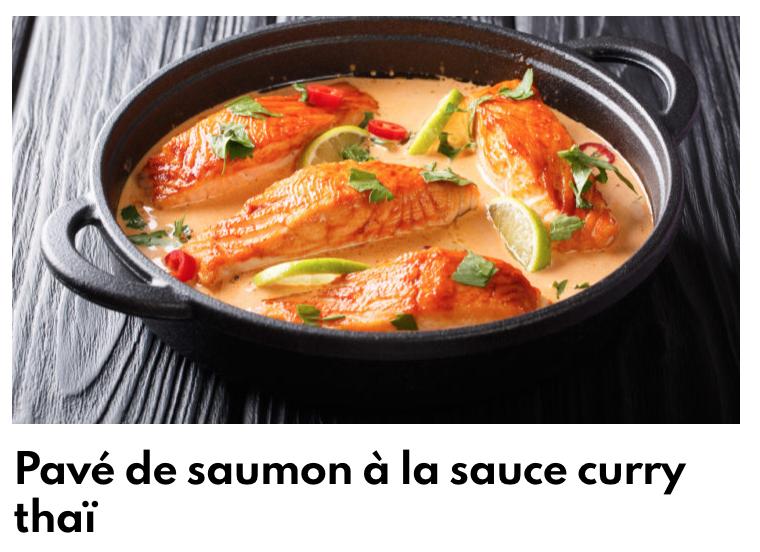 Pavé de saumon à la sauce curry thaï