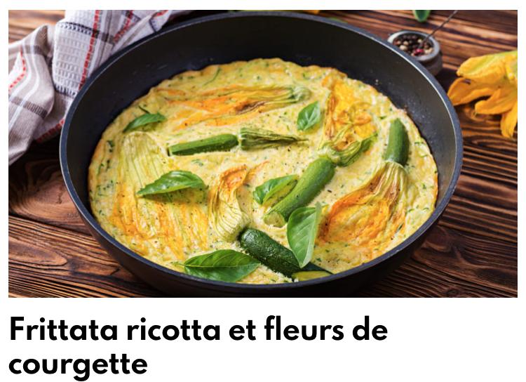 Frittata ricotta et fleurs de courgette