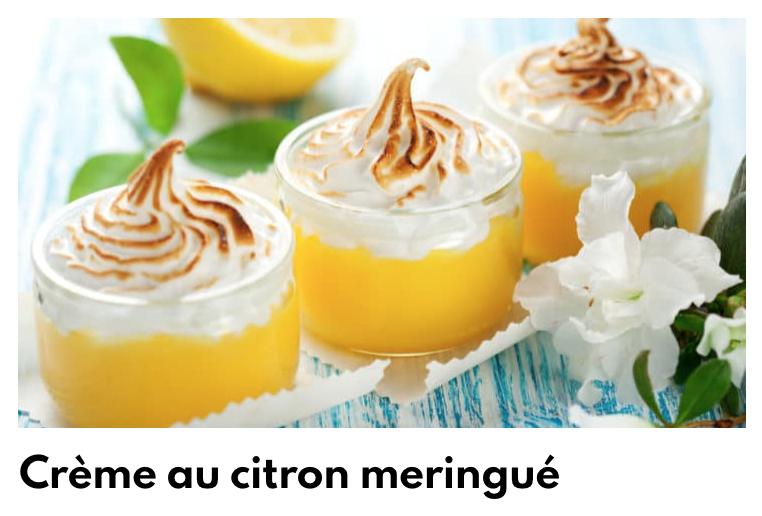 Crème citron meringuée