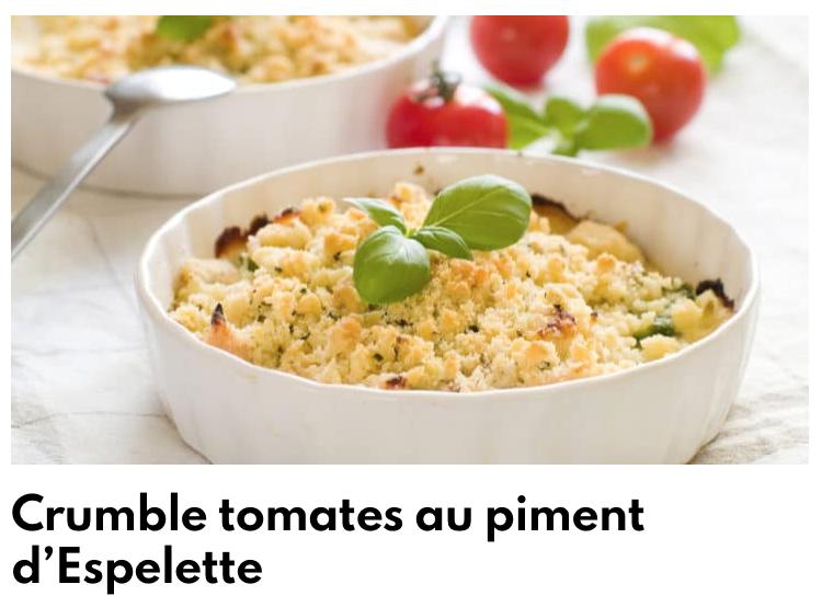 Crumble tomates