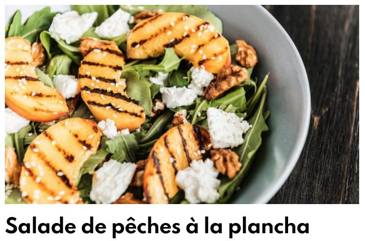 Salade de pêches à la plancha