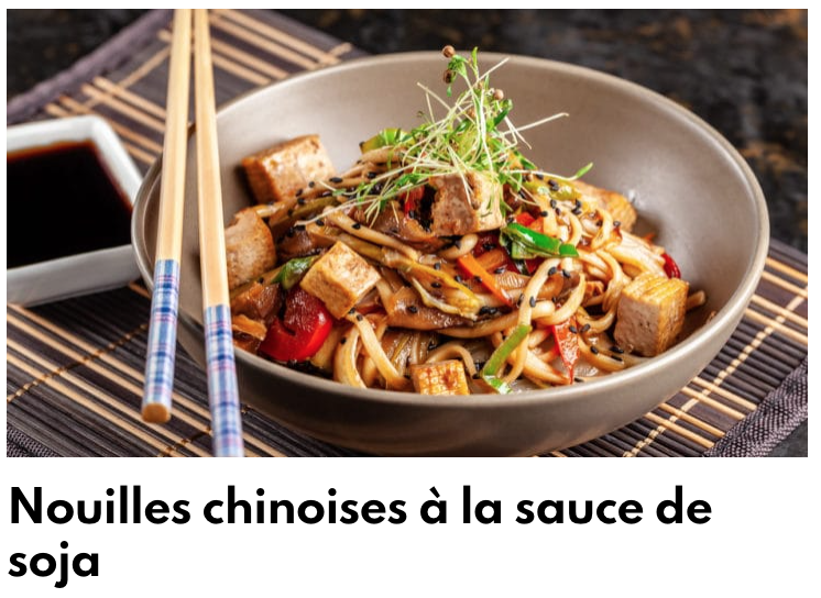 Nouilles chinoises à la sauce soja
