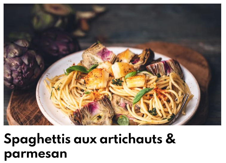 Spaghettis artichaut