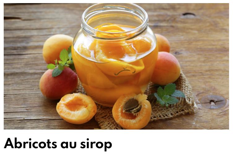 Abricots sirop