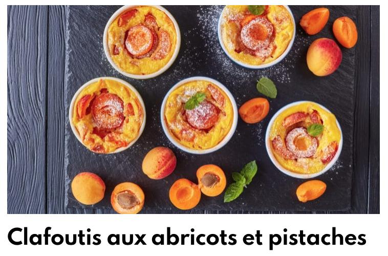 clafoutis abricot pistache